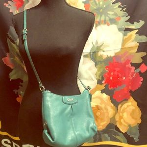 Teal Leather Coach Bag